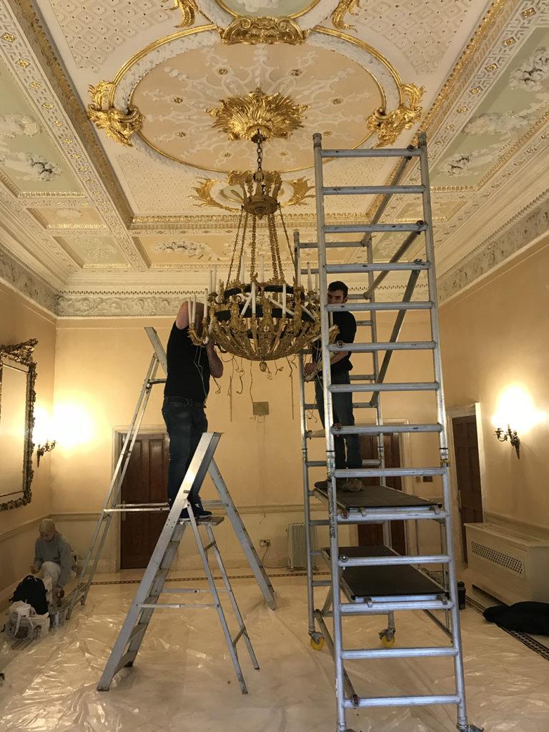 Gold Chandelier Full Restoration