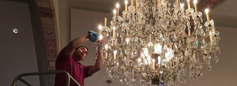 Get your chandelier professionally cleaned!